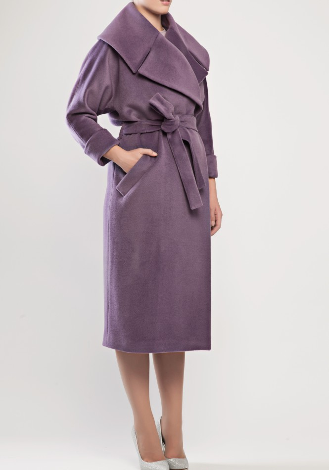 Oversized wool and cashmere blend coat