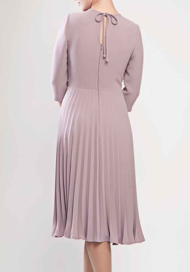 Pleated crepe dress