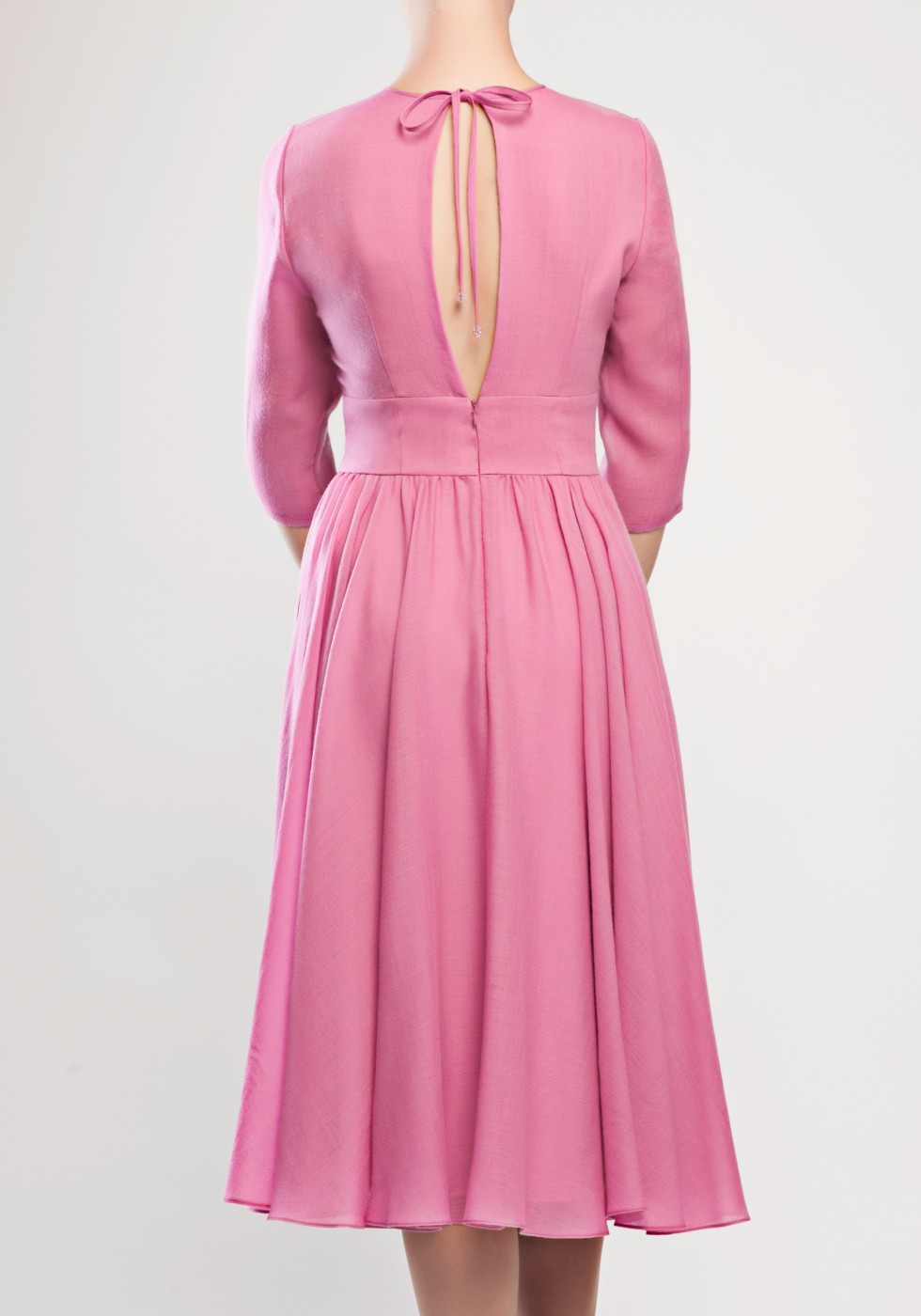 Woolen silk-lined dress