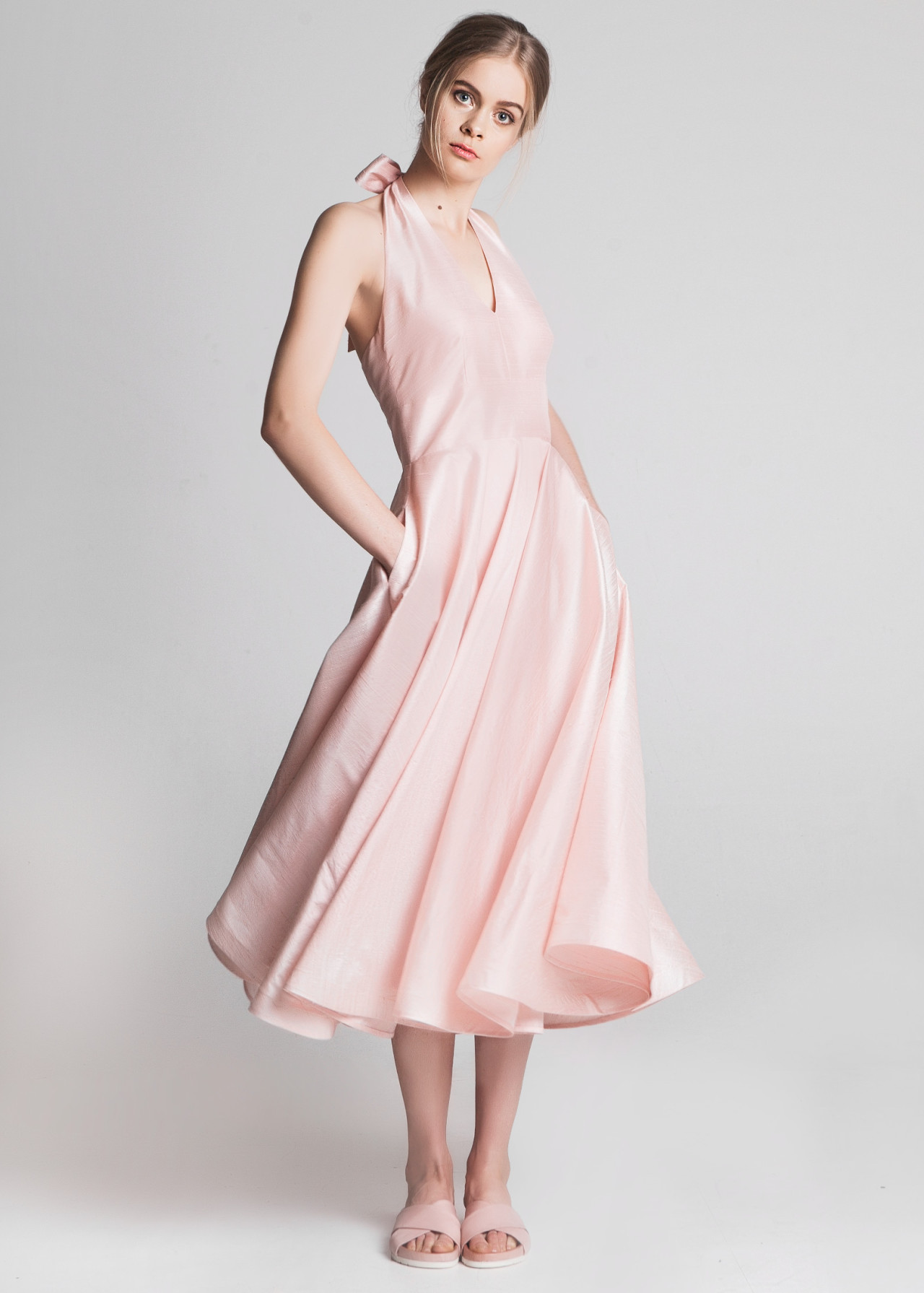Powder Pink Dresses Dress Yp