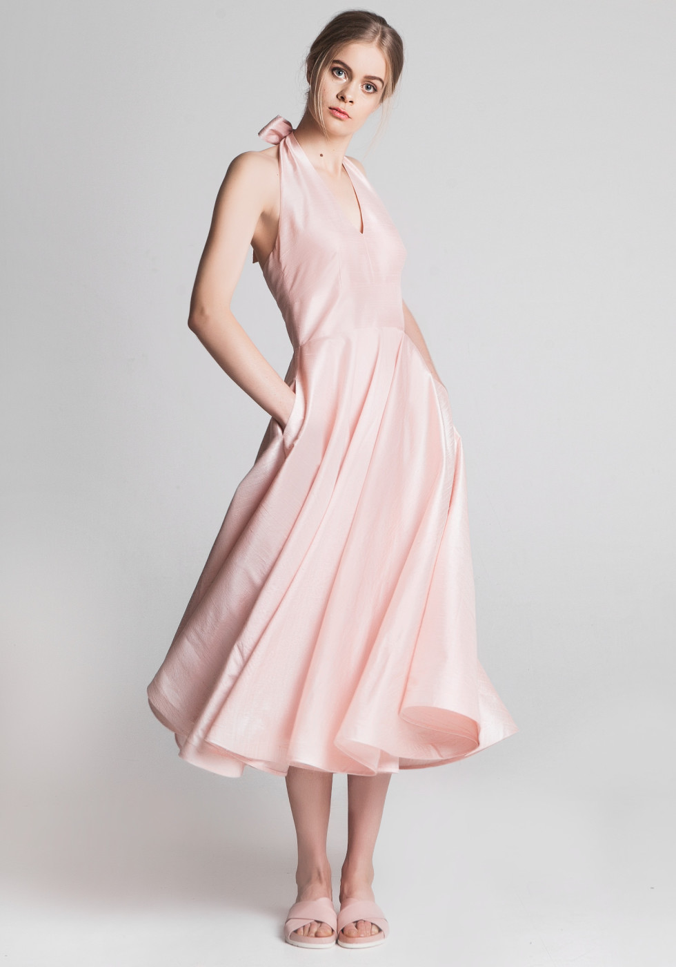 The Cannes Dress Powder Pink