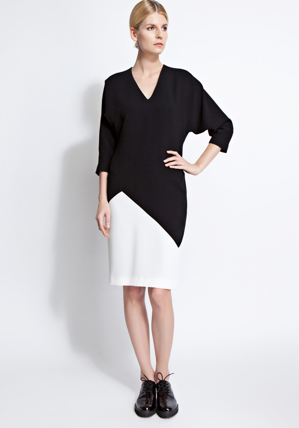Amber dolman sleeve colour-block dress