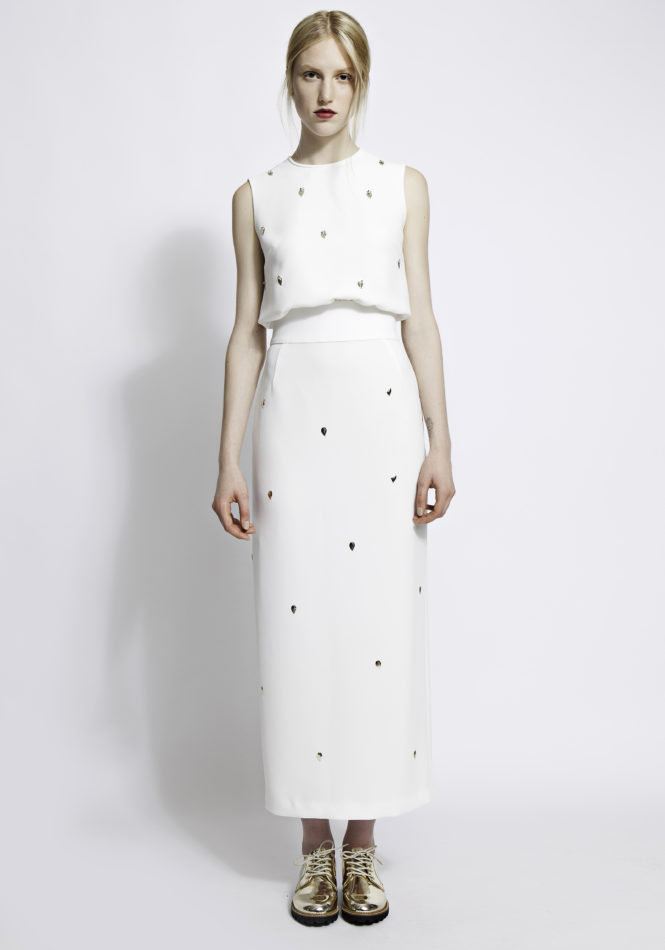 Harper embellished column midi dress