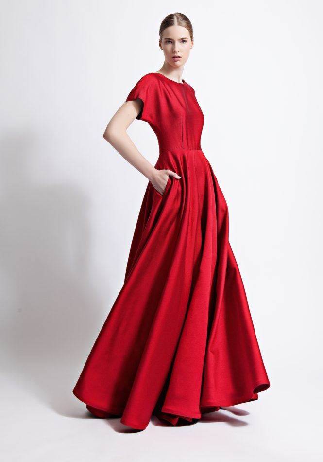 Celeste Silk and Wool Blend Ballgown