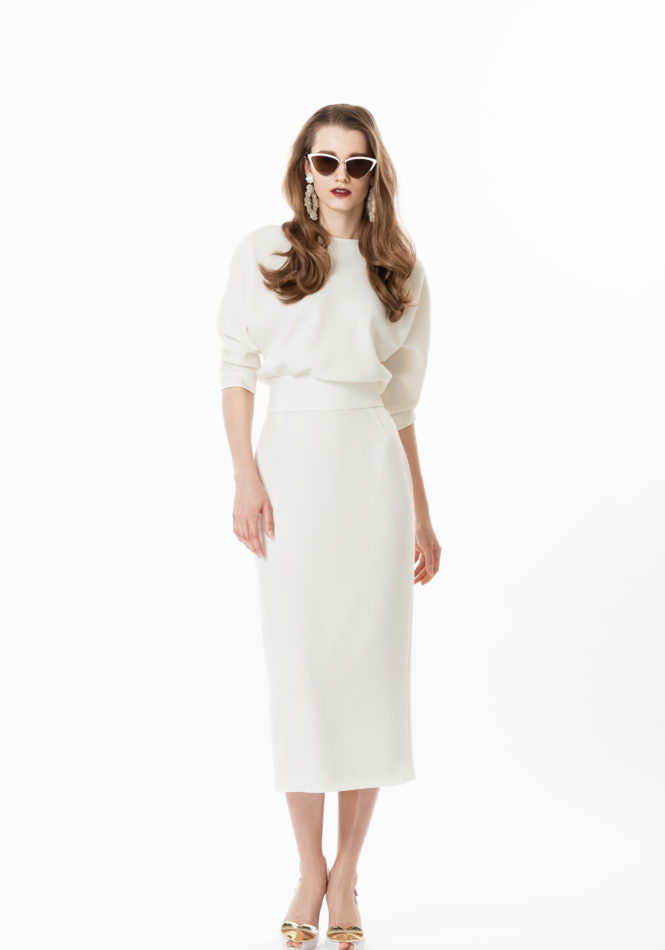 Amal Long Sleeve Midi Dress