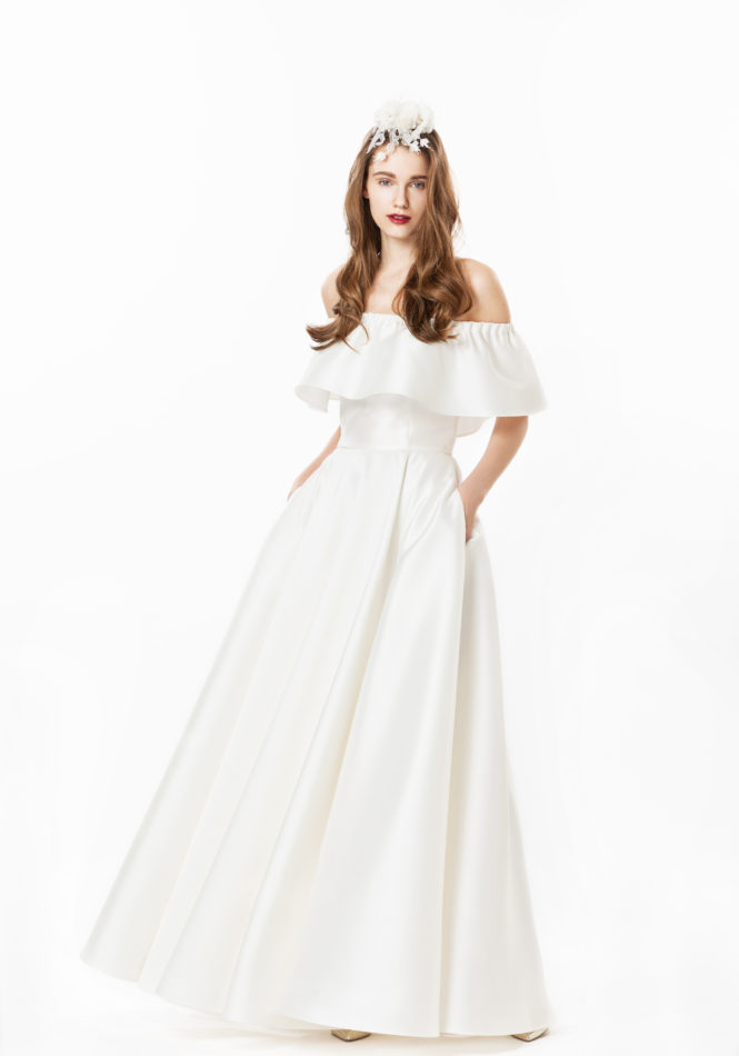 Jasmine Off-The-Shoulder Gown