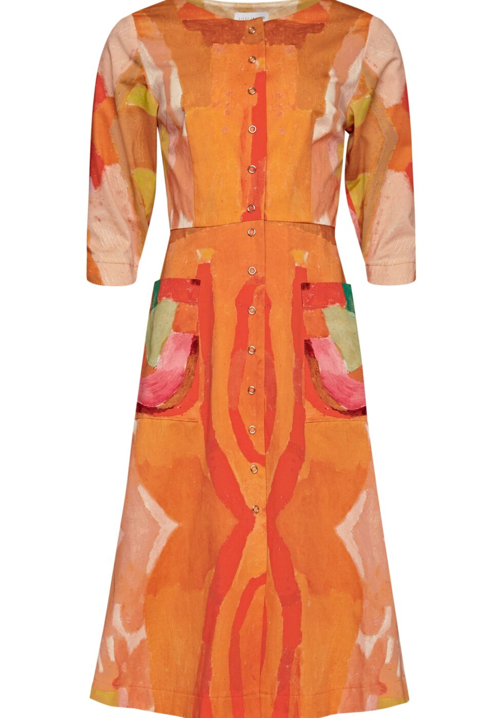 Aimee Cotton Dress with Pockets and Pressbuttons