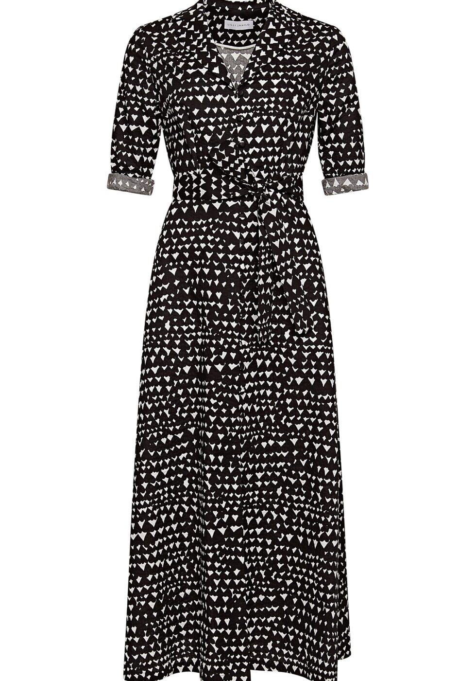 Harriet Cotton Dress with Sleeves and Pockets