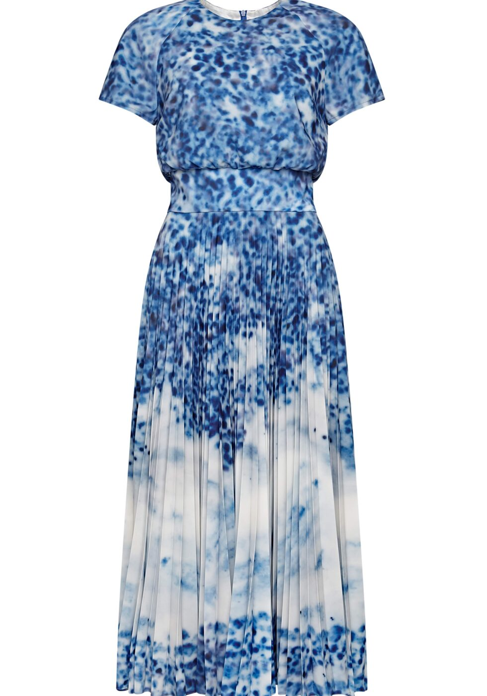 Piper Porcelain Pleated Dress with Side Pockets